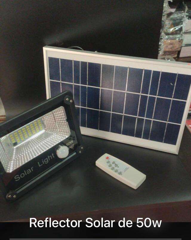 Reflector LED panel solar y control 0