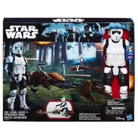 Star wars Scout trooper with speeder bike