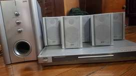 Home Theater J-win Modelo Js-p602 Con 5 Parlantes +  Woofer + DVD $6000