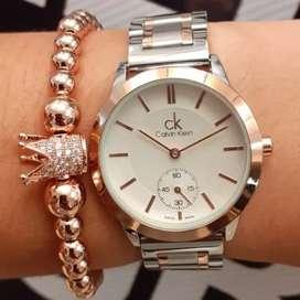 Reloj para mujer bicolor