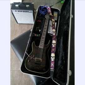 Guitarra para zurdo schecter hellraiser