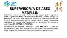 SUPERVISOR/A ASEO MEDELLIN