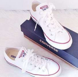 Converse para damas y mujeres color blanco...