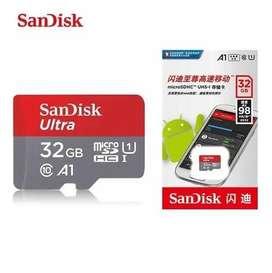 Memoria MicroSD SanDisck Ultra 32Gb, Clase 10, A1 lectura 98 Mb/s Original Nueva