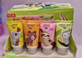 Cremas hidratantes prom para las manos melocotón, té verde, limón..
