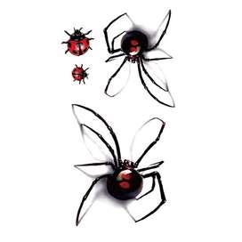 Tatuaje Temporal 3d Arañas Mariposas Colores sombras JMG