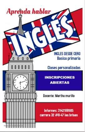 Clases personalizadas de inglés
