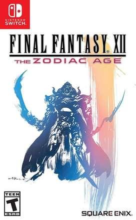 Final Fantasy XII The Zodiac Age Switch Nuevo y Sellado en Español