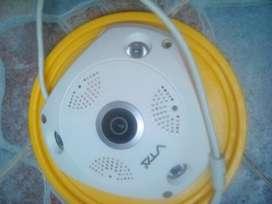 Cámara Ip Panorámica Fija Cobertura 360 Grados Wifi Micro Sd