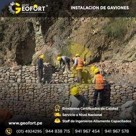 VENTA Y FABRICACION DE GAVION CAJA Y COLCHON  ENTREGA INMEDIATA GEOFORT SAC