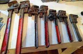 Llaves Stillson (inglesas o de tubo) distintas medidas