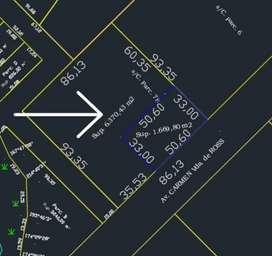 Vendo terreno de 6.400 metros cuadrados frente a  CURNE