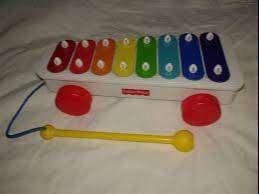 Juego Xilofon  Fisher Price carrito y xilofon sin caja