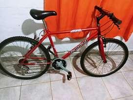 Vendo bicicleta con cambio Rodado 26