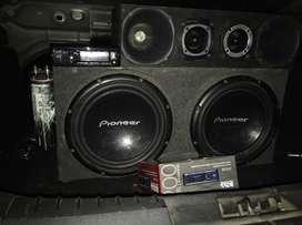Audio Car con bateria gel y stereo nuevo