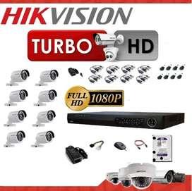 Kit de 8 Cámaras de Seguridad Hikvision