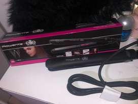 Plancha para cabello marca rowenta for elite model look 2 en 1