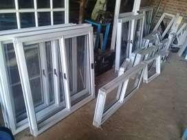 Ventanas de aluminio blanco 1.00x1.00