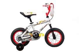 Bicicleta Niño Niña Rin 12 Pulgadas Disney Mickey