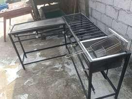 cocina industrial  de 5 hornilla
