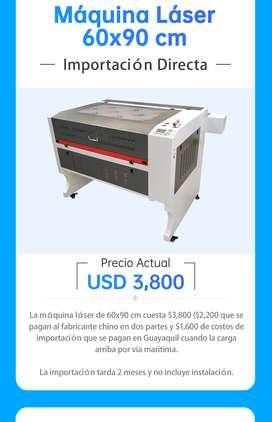 Maquina de corte y grabado laser 60x90cm