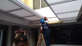 Diseño y fabricacion de techos  de policarbonsto fijos corredizos