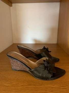 Sandalias Mujer taco chino