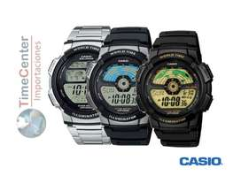 Reloj Casio Digital, Hora Mundial, Para Hombre Ae-1100w-