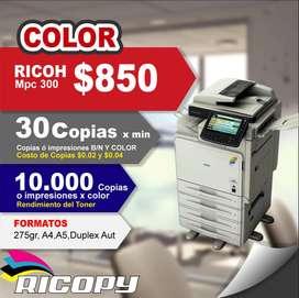 Copiadora Impresora Ricoh Mpc 300 Full Color