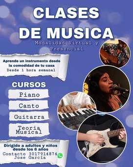 CLASES DE MUSICA VIRTUALES O A DOMICILIO