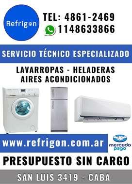 Service Heladeras - Lavarropas - Aires Acondicionados