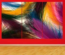 cuadros en vinilo estilo plumas