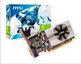 Tarjeta gráfica MSI Geforce 210 1024 MB DDR3 PCI-Express 2.0