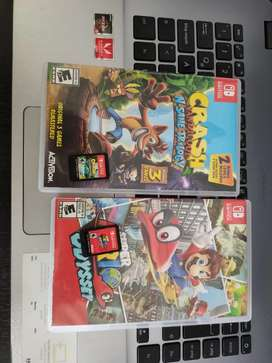 Crash trilogy 120  y Mario oddisy 150 Nintendo switch