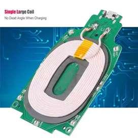 Cargador inalámbrico (TRANSMISOR)(Micro USB) 75% alta tasa de conversión, módulo Multi-nivel universal.