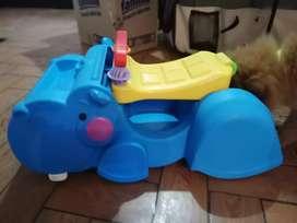 Hipopótamo andador traga-bloques 2 en 1