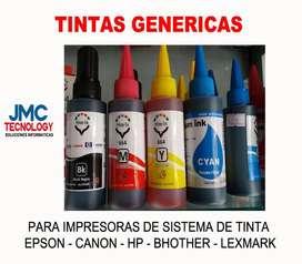 TINTAS GENERICAS EPSON CANON HP BROTHER