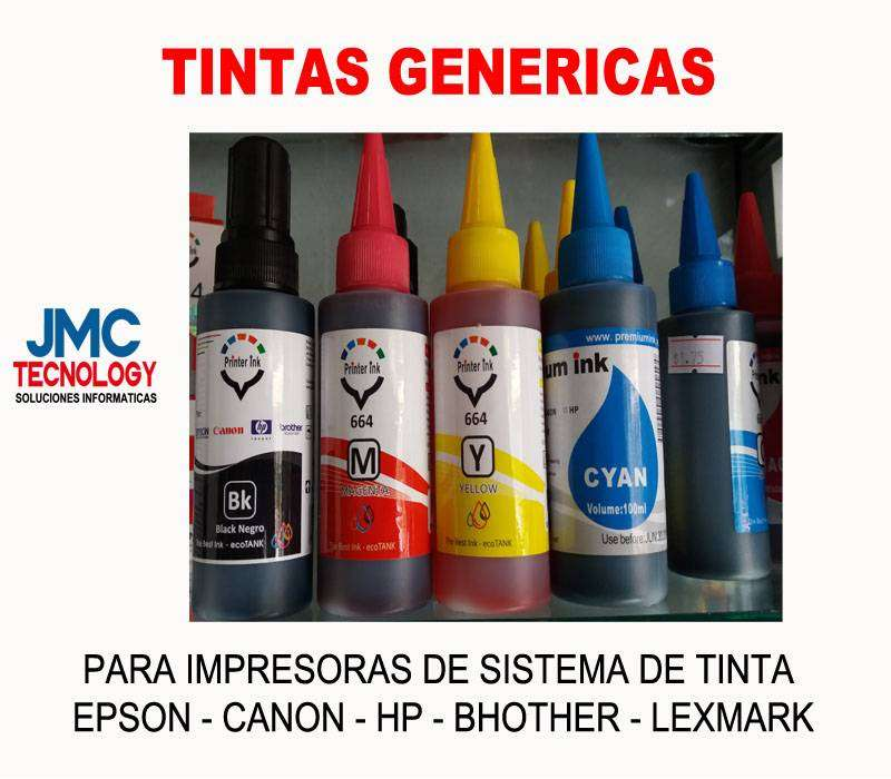TINTAS GENERICAS EPSON CANON HP BROTHER 0