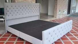Base cama, espaldar y piecero