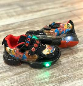 Tenis de Niños Spiderman Luces