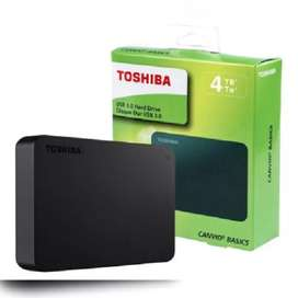 DISCO EXTERNO TOSHIBA 4TB CANVIO BASIC. USB 3.0. COLOR NEGRO.