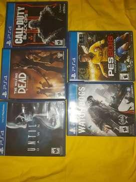 5 JUEGOS PS4 A $100