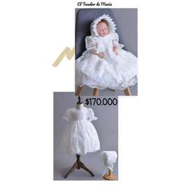 Vestido Blanco Mangas/Gorro