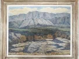 Obra del pintor Cerrito del año 1960 con escritura valuado en dólares 2500