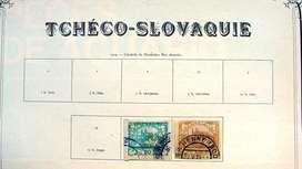 Sellos postales de Checoslovaquia años 1919 – 1926