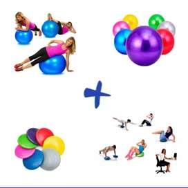 Combo pilates cojín balón inestable + balón pilates