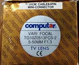 Auto Iris Lens A1, Computar TG10Z0513FCS2 550mm F1.3 Varifocal DC Tg10z0513fcs-2 5-50mm F1.3 Varifocal. - DC Auto Iris