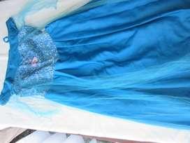 Disfraz vestido de princesa Elsa de la película Frozen!, original Disney!
