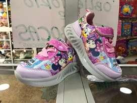 Zapatillas para niñas con luces tallas 21-26