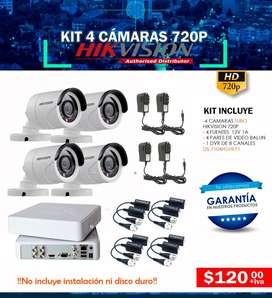 Camaras de seguridad Quito Video vigilancia cctv kit con dvr Hikvision dahua disco duro para dvr cable utp cable de red
